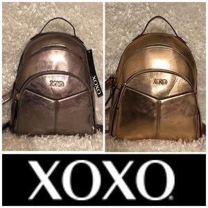 🆕 XOXO Metallic 3 Zip Backpack